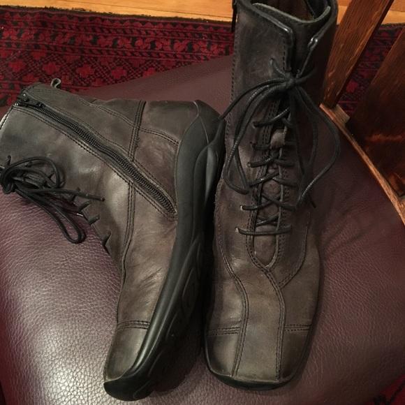 3d6c68b6e6566 Wolky Shoes | Lace Up Boots Zipper Dark Grey 38 75 | Poshmark